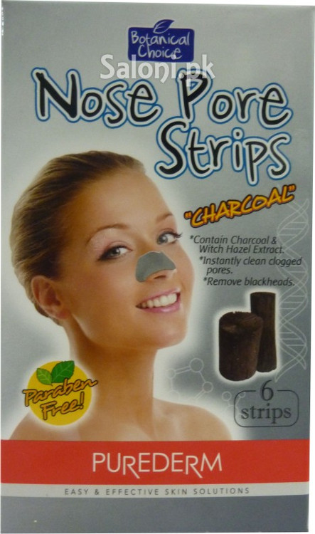 Purederm Batanical Choice Nose Pore Strips (Charcoal) (Front)