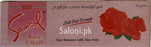 Samsol Rose Cream Hair Remover with Aloe Vera (Front)