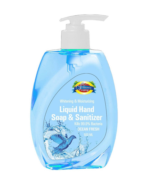 The Vitamin Company Liquid Hand Soap & Sanitizer Ocean Blue