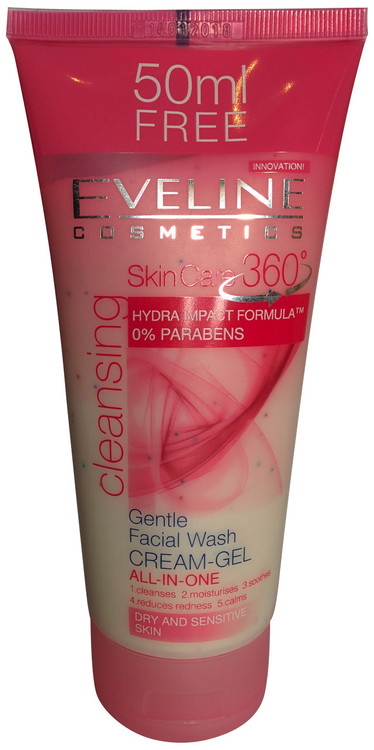 Eveline Cosmetics SkinCare 360 Gentle Facial Wash Cream-Gel All-in-one Dermarite PeriFresh Rinse-Free Perineal Cleanser 7.5 Ounces (Pack of 6)