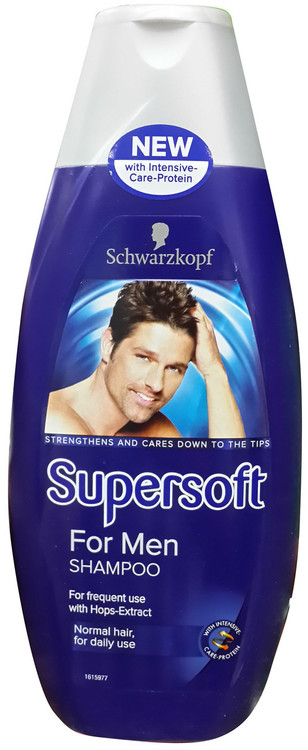 Schwarzkopf Supersoft For Men Shampoo 400 ML