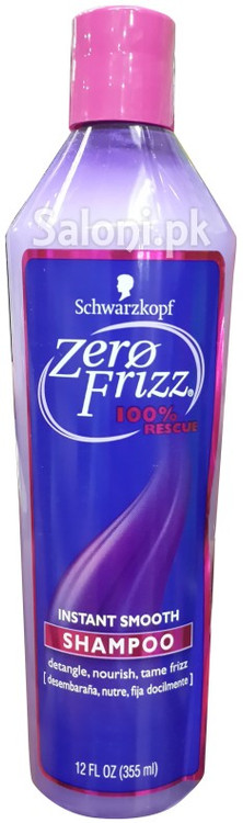 Schwarzkopf Zero Frizz 100% Rescue Instant Smooth Shampoo (Red) Front