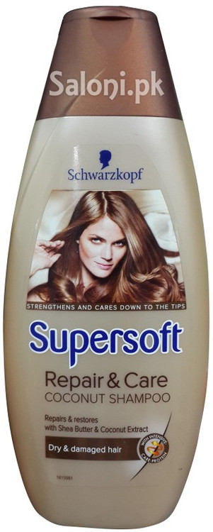 Schwarzkopf Supersoft Repair & Care Coconut Shampoo 400 ML front