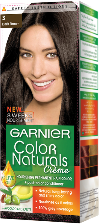 Garnier Color Naturals Hair Color Creme Dark Brown 3