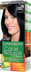 Garnier Color Naturals Hair Color Creme Dark Black 1+