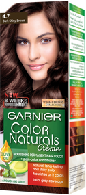 Garnier Color Naturals Hair Color Creme Sparkle Dark Shiny Brown 4.7