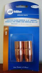 """Miller Genuine Copper Flush Nozzle, 1/2"""" orifice for MM140,180,211 2/pk - 246372"""