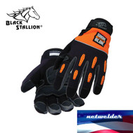 BLACK STALLION Tool Handz ShokBlok Anti-Vibration Snug-Fitting Gloves 98SB