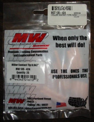 "MILLER 135424 CONTACT TIPS   3/64""  QTY/25"