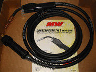 Masterweld 250A MIG gun w/15' cable Euro connection - made in USA