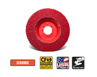 "CGW Camel - Flap Discs C3 Trimmable Disc 4-1/2"" x 7/8""  80-grit - Qty 10 - 42945"