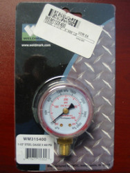 WELDMARK REPLACEMENT PRESSURE GAUGE - 400PSI - 1.5""
