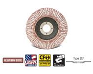 """CGW Camel - Flap Discs Aluminum A3 4-1/2"""" x 7/8""""  36-Grit  T27 - Qty 10 - 43081"""