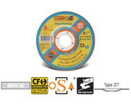 """CGW Camel - Cut-Off Wheels 5"""" x .045"""" x 7/8""""  WA60-R Type 27 Qty 25 - 45006"""