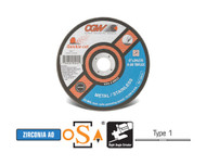 "CGW Camel - Cut-Off Wheels 6"" x .040"" x 7/8""  ZA60-TB-Flex - Qty 25 - 45012"