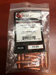 Best Welds Contact Tips .023/.025 STD duty 11-23 (Bag of 25)