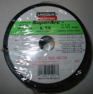 "LINCOLN SUPERARC L-56 .025"" 2LB SPOOL MIG WIRE ER70S-6"