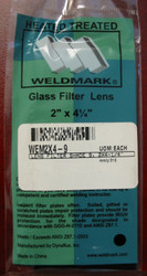 SHADE 9  2 X 4.25 GLASS WELDING HELMET FILTER LENS