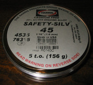 HARRIS SAFETY-SILV 45 SILVER BRAZING ALLOY - 5 t.o.