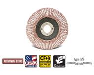 "CGW Camel - Flap Disc Aluminum A3 4-1/2"" x 7/8""   60-Grit  T29 - Qty 10 - 43104"