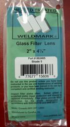 """SHADE 5 -  2"""" x 4-1/4"""" Glass Welding Helmet Filter Lens"""