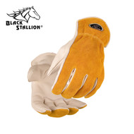 Black Stallion Value Grain/Split Cowhide Kevlar® Stitched Driver's Gloves