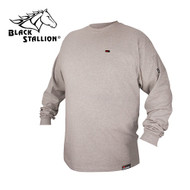 Black Stallion FR Cotton T-Shirt - Gray Long Sleeve FTL6-GRY