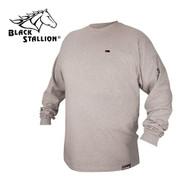 Black Stallion FR Cotton T-Shirt - Gray Long Sleeve FTL6-GRY