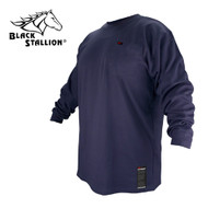 Black Stallion FR Cotton T-Shirt - Navy Long Sleeve FTL6-NVY