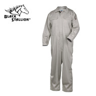 Black Stallion TruGuard 300 NFPA 2112 FR High-Quality Coveralls STONE