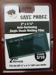 "Save Phace EFP Auto-Darkening Filter Lens - Shade 3/10 - 2"" x 4-1/4"""