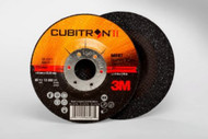 "3M Cubitron II Depressed Center Grinding Wheels 4.5"" x 1/4"" x 7/8"" Qty20 66587"