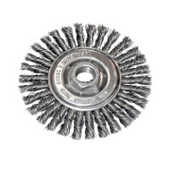 "CGW Camel - Stringer Knot Wheel Brush - 4"" dia x 5/8""-11 - Qty 1 - 60520"