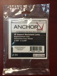 """Anchor IR Impact Resistant Lens 4.5"""" x 5.25"""" - Inner Lens for Jackson Nexgen - Qty 5 Lenses"""