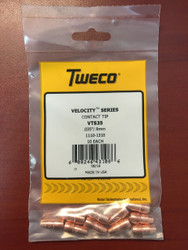 "Tweco VTS35 Velocity Contact Tips .035""  1110-1310 - QTY 10"