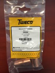 "Tweco VNS50F Velocity Nozzles 1/2"" LD Flush 1220-1200 - QTY 2"