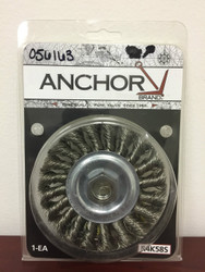 "Anchor 4"" Standard Twist Knot wire Wheel - Stainless Steel R4K58S"