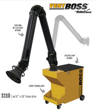 "VentBoss Portable Fume Extractor with 6"" x 10' Fume Arm S110"