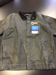 Miller Genuine Arc Armor Leather Welding Jacket - XL 231091 **FADED**SEE PICS*