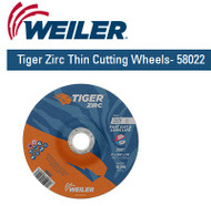 "Weiler Tiger Zirc Thin Cutting Wheels 6"" x .045"" 25/pk  58022"