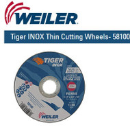 "Weiler Tiger INOX Thin Cutting Wheels 4-1/2"" x .045"" 58100 25/pk"