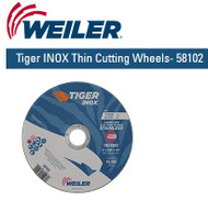 "Weiler Tiger INOX Thin Cutting Wheels 6"" x .045"" 58102 25/pk"
