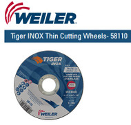 "Weiler Tiger INOX Thin Cutting Wheels  4-1/2"""" x .045""  58110  25/pk"