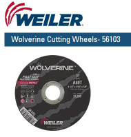 "Weiler Wolverine Cutting Wheels   4-1/2"" x 1/16""  50/pk  56103"