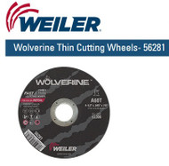 "Weiler Wolverine Thin Cutting Wheels  4-1/2"" x .045"" 50/pk 56281"