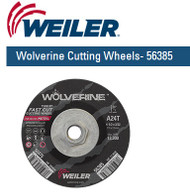 "Weiler Wolverine Cutting Wheels 4-1/2"" x 3/32"" 10/pk 56385"