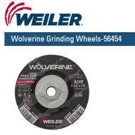 "Weiler Wolverine Grinding Wheels  4-1/2"" x 1/4"" 10/pk 56454"