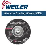 "Weiler Wolverine Grinding Wheels 7"" x 1/4"" 10/pk 56468"