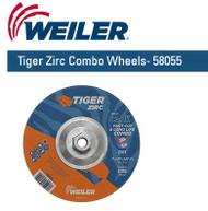 "Weiler Tiger Zirc Combo Wheels 7"" x 1/8"" 10/pk 58055"