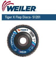 """Weiler Tiger X Flap Discs 4-1/2"""" x 7/8""""  Grit/40  10/pk 51201"""